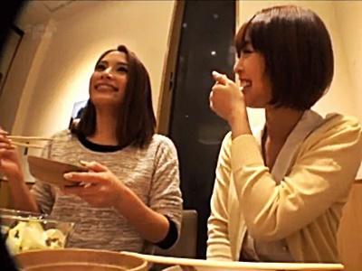 【ナンパ】相席居酒屋でS級美女を持ち帰り、一人はノリノリ一人は渋め、しかし二人とも股を開きました!