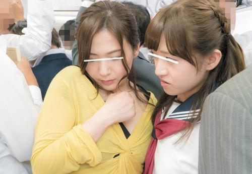【電車痴漢】娘だけはやめて!悲痛な声も届かず中出しされた母と娘