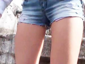 【ロシアの美脚パイパンガール♪♪】スレンダーなロリ豊乳少女のアナルを占領する!!