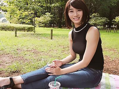「Hな妄想があるんです♡♡」長身スレンダーな女教師が、上京してきて男優3Pセックス!!