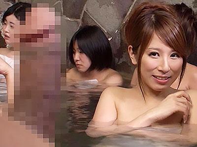 「ここは女湯ですよ」と教える女性客に指摘されて、恥ずかしいので逆に勃起チンポを見せつけたったww