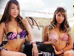【海の相席居酒屋】真夏のビーチで開放的になってるヤリマンギャルに、お酒を飲ませたら簡単に即パコできたww