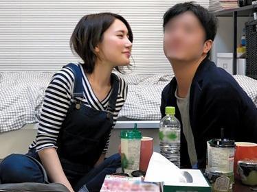 【素人ナンパ盗撮】スレンダーなショートカット美女、寂しさからヤリチンと即日SEX!!