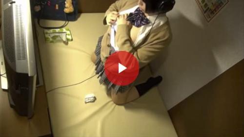 【盗撮】今時の女子高生はネットカフェを使ってオナニーするんです
