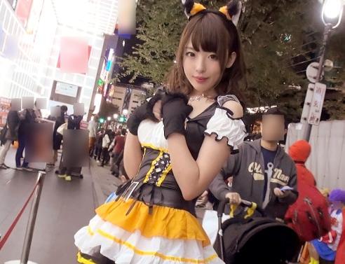 【素人ナンパ】渋谷ハロウィンで発見した仮装美少女をラブホに連れ込んでハメ倒した一部始終!!