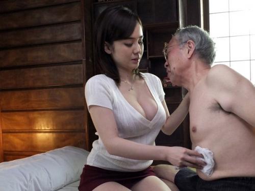 【吉川あいみ】義父と生ハメセックスしちゃう未亡人!お義父さま絶倫すぎて妊娠しちゃうかも♡
