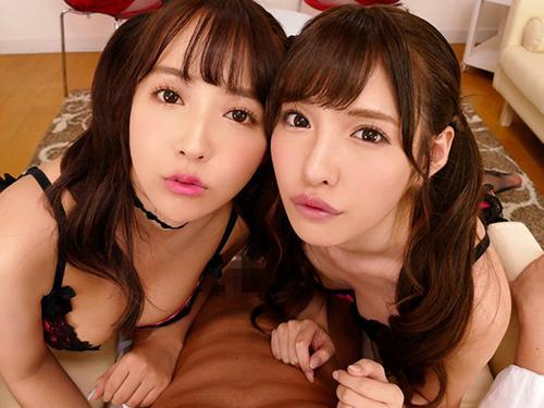 【VR】2人組のSSS級美少女と夢みたいな3Pプレイ♡交互に口や手、オッパイでご奉仕されて昇天寸前w