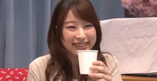 【桜を見る会】お花見で飲んでいた巨乳美少女JDが男友達とエッチなゲーム企画に挑戦!