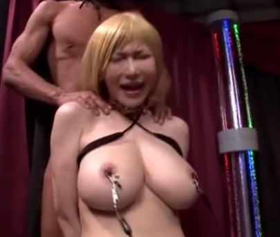 【上原亜衣】電流を乳首に流され感じてしまう金髪巨乳美女が痙攣イキ!!