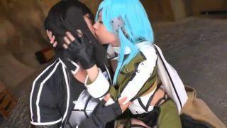 【コスプレAV】 SAO2の コスプレをした女の子がキリトのコスプレをしたお兄さんとHするAV。
