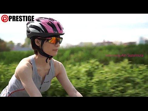 【鈴村ありい】ロードバイクを楽しんでいる美人がロードバイク仲間の男の人と野外セックスをしようとする。