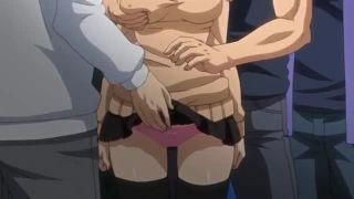 痴漢でっち上げ行為を繰り返してきたビッチなギャルがとうとう集団ストーカーに捕われアナルを犯されるエロアニメ。