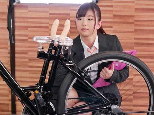 <SOD>2穴同時挿入アクメ自転車を開発するべく自ら実験台となってアナルと膣内をほじくられるOLお姉さんw<羞恥>