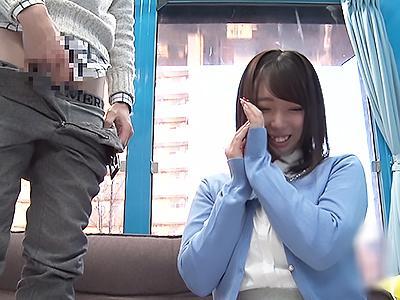 【マジックミラー号】斉藤みゆ 爆乳おっぱいのお姉さんに早漏ちんぽを見せつけ!敏感な肉棒をトロトロまんこに挿入
