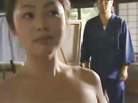 【ヘンリー塚本】モデルの巨乳人妻が言いくるめられて全裸で手コキ&イラマチオさせられ寝取られる