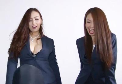 ★本物のSM女王様★タイトスカート&パンストがセクシーすぎる名古屋の女王様たち♥調教フルコースでM男をイジメちゃいます