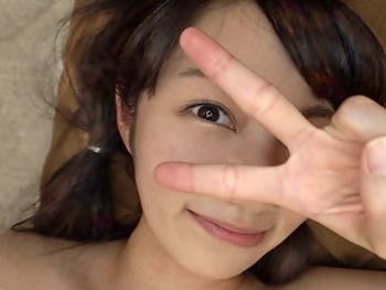 『初めての中出しです』ノーブラ美少女が出没すると噂の富山県までいった結果…かなりエッチな女の子で3P生中でしして来ました♪