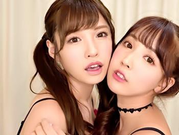 《VR》『こんなに膨らんできて…』2大美少女との3Pハーレム生活!美少女二つの舌が勃起チンコを舐めまわし…パイズリ挟射!