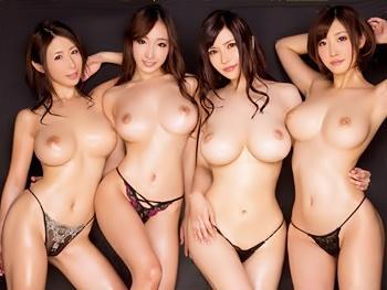 AV業界屈指のスーパーボディ4人組が乱れに乱れた酒池肉林の大乱交×真正中出し!!