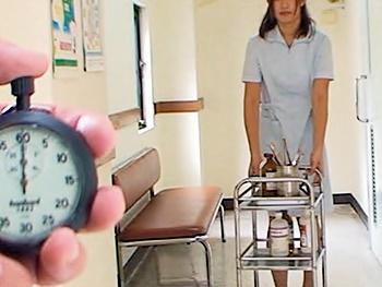 《時間停止》病院内の時間を止めて、白衣の天使に悪戯し放題!!スカートを捲り、触り放題・ナメ放題!!