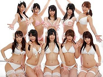 《VR》超豪華AV女優陣10人共演!究極のバーチャル11Pハーレムプレイ!貴方のチンポを10人の美女達が責めたてる…!