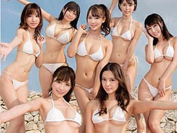 《三上悠亜》夢のオッパイの競演!有名女優7人とハメるハーレムバスツアー!目当ての女優と1発ハメるためのフェラ我慢大会!
