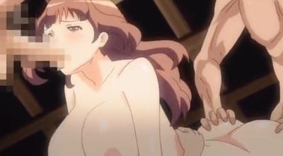 【エロアニメ】旦那の故郷で他人棒3穴挿入輪姦でイかされまくる人妻