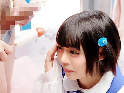 【素人ナンパ企画】激カワなショートカットの黒髪美少女が、コスプレに着替えてチンポフェラからエッチww