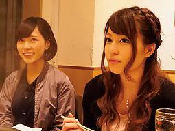 【相席居酒屋】激カワな美少女二人組をゲットでヤリ部屋に案内して、即口説きで攻略ww