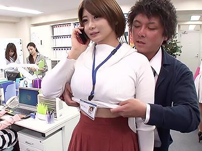 『おっぱい、失礼しま~~ッすww』オフィスでタイムストップで、爆乳の美女の体を好き放題イタズラww