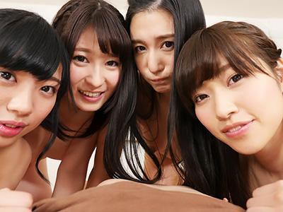【VR】『ああん♥誰とエッチする?』女優4人に囲まれる夢のようなスペシャルハーレムSEXで、美女を選び放題ww