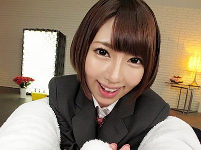 『ご氏名、ありがとうございます。』JK風俗で制服を着た激カワな女子校生に、チンポを舐めてもらい生ハメSEX!!