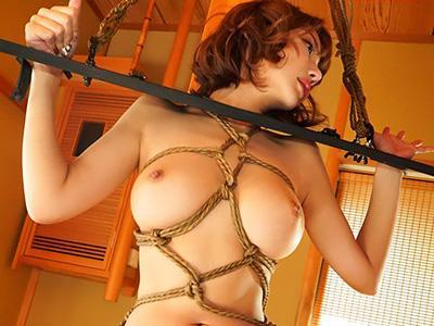 『ああん♥やめてえぇぇぇ!!』巨乳セレブ嬢が完全緊縛されて、穴を好き放題に犯され凌辱される!!