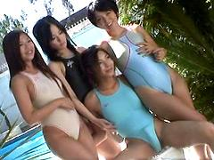【桜ノ宮てんま】ニューハーフは競泳水着の女性を犯す
