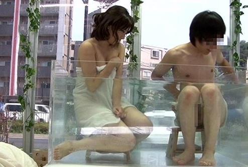 激カワな大学の女友達とマジックミラー号で2人きりの混浴ミッション!