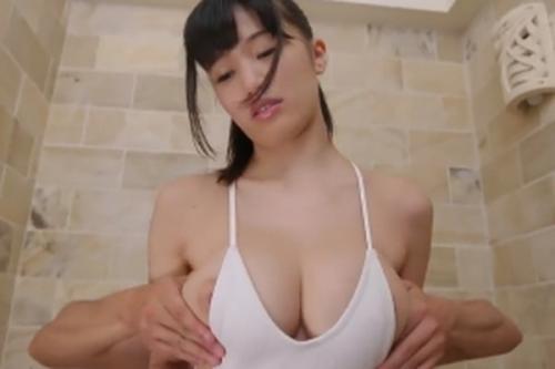 【高橋しょう子】性感帯のオッパイを触られて恥ずかしいけど気持ちイイ~!本物グラビアアイドルの初々しいデビュー作!