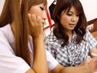 ダブルで巨乳の家庭教師と女子校生のレズ関係 綺麗な二人 制服カテキョーレズ物語 家庭教師レズビアン